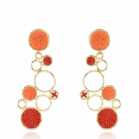 Bubble Earring Orange Red