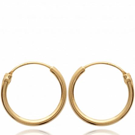 Cercei femei placate cu aur Classique 1.5 cm creol