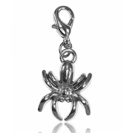 Charm's femei argint metalic Araignée