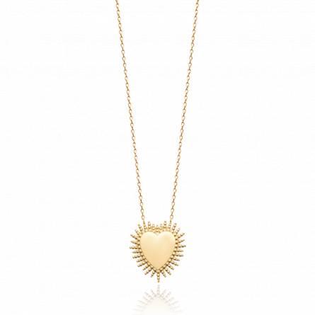 Collier femme plaqué or Aldesa coeur