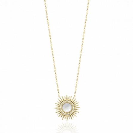 Collier femme plaqué or Chasia blanc