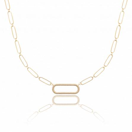 Collier femme plaqué or Tanfry
