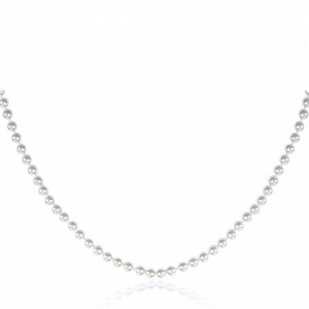 Collier perle imitation blanche