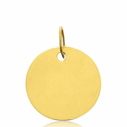 Gold Adamo circular pendant