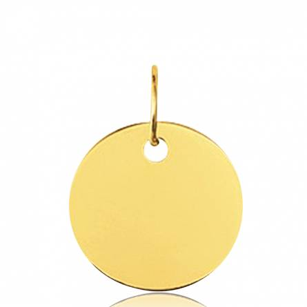 Gold Adrian circular pendant