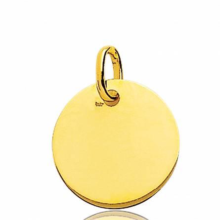 Gold Dima circular pendant
