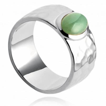 Inel femei argint Abbey verde