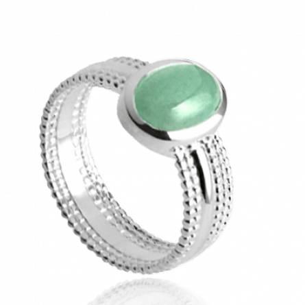 Inel femei argint ILYANA verde
