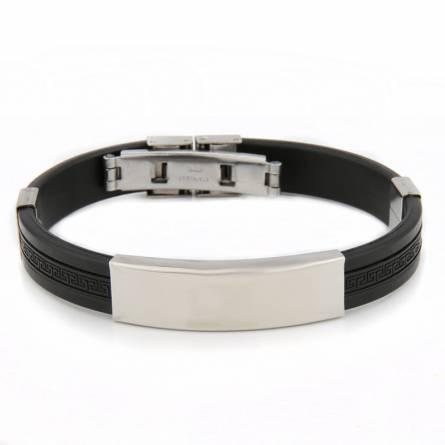 Man silicon Valentin black bracelet