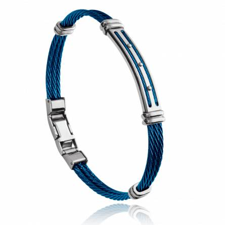 Man stainless steel Adam blue bracelet
