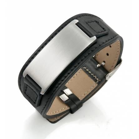 Man stainless steel Zeus black bracelet