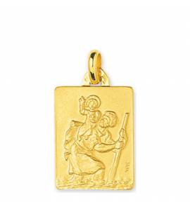 Medaillon Or Saint Christophe plaque