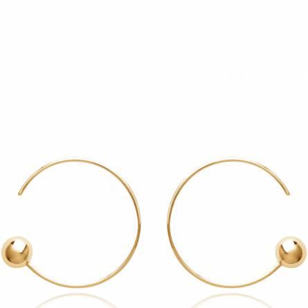 Ohrringe frauen goldplattiert Terline rund