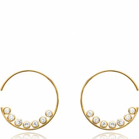 Ohrringe frauen goldplattiert Vesna hoops
