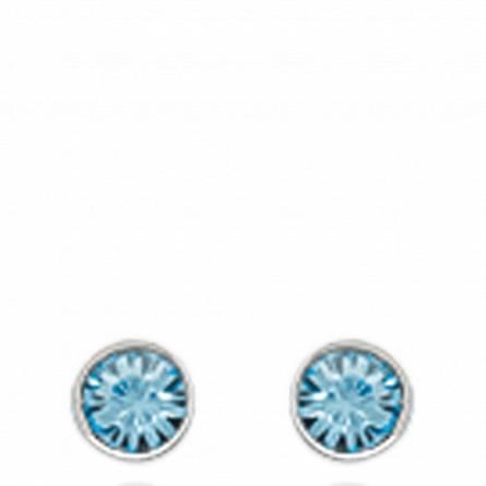 Ohrringe frauen silber Lune 12 rund blau