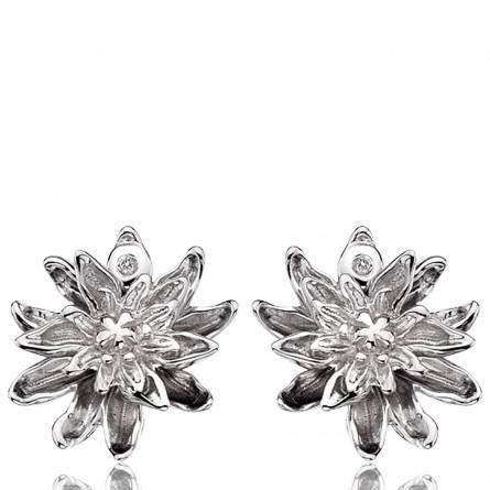 Oorbellen dames zilver Fleur Eternelle
