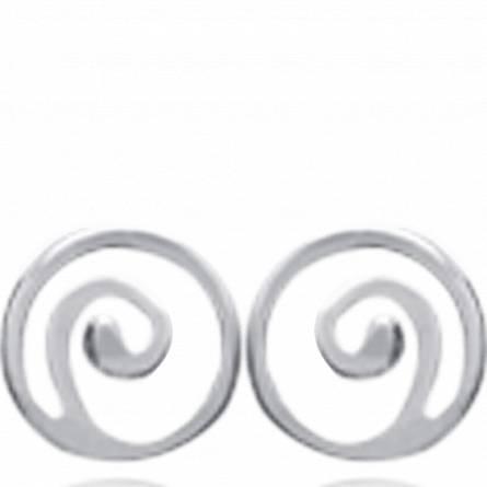 Oorbellen dames zilver Petite Spirale spiraal