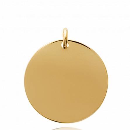 Pandantiv placate cu aur Ecu vienne runda