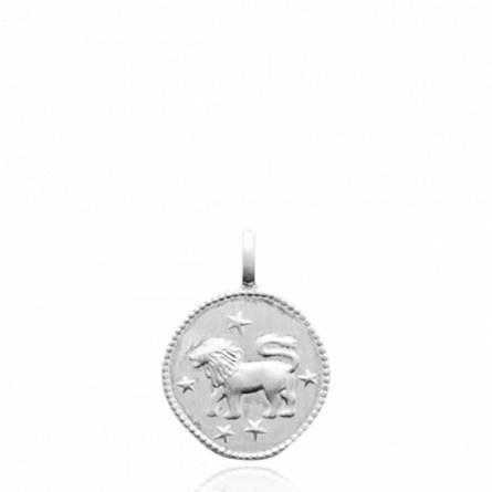 Pendentif argent rhodié astro Lion