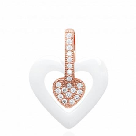 Pendentif coeur plaqué or rosé bryana