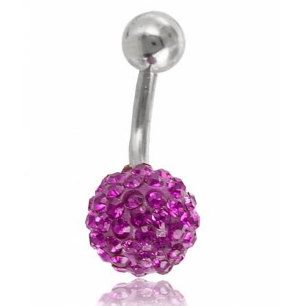 Piercing frauen stahl Zelestino rosa