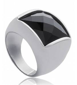 Ringen dames roestvrijstaal Constellation zwart