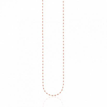 Sautoir plaqué or perle Miyuki rouge