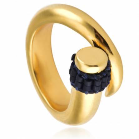 Spiral Ring Blue