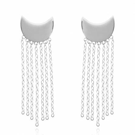 Woman silver Albin earring