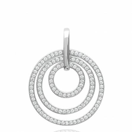 Woman silver Bertha circular pendant