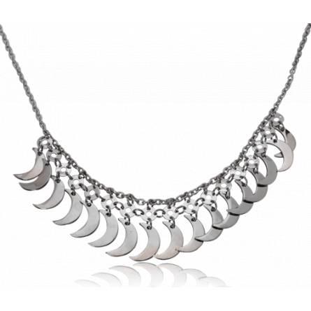 Woman stainless steel Riviére de Lune necklace